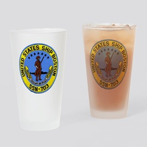 boston patch Drinking Glass