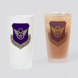 USAF-8th-AF-Shield-Subdued-Blue Drinking Glass