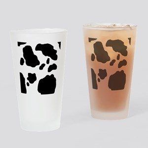 Black/White Cow Drinking Glass