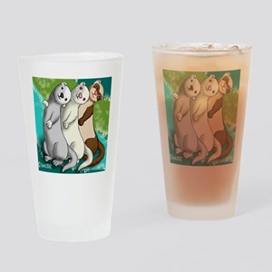 Ferret Art Drinking Glass