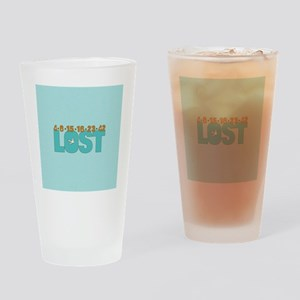 Plane Numbers Lost Blue Brown Ornam Drinking Glass