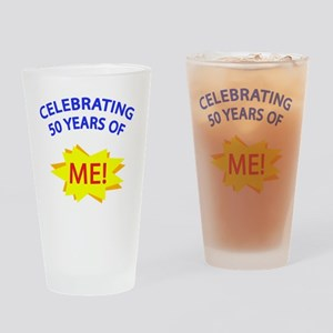 CelebratingMeBlue 50 Drinking Glass
