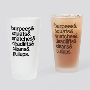 Crossfit Essentials Black Text Drinking Glass