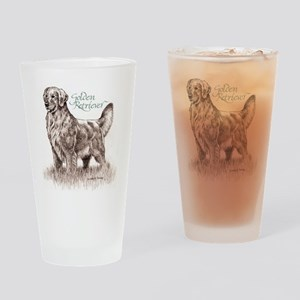 AdultGolden_cafefinal Drinking Glass