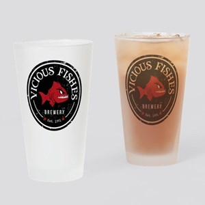 Vicious Fishes Brewery Drinking Glass