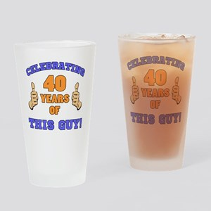 Celebrating 40th Birthday For Men Drinking Glass