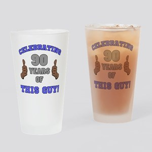 Celebrating 90th Birthday For Men Drinking Glass