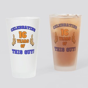 Celebrating 16th Birthday For Men Drinking Glass