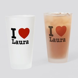 I Love Laura Drinking Glass
