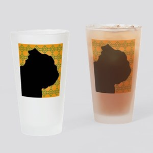 English Bulldog Profile Drinking Glass