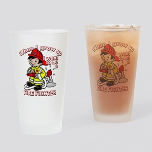 2-firefighter_CP Drinking Glass