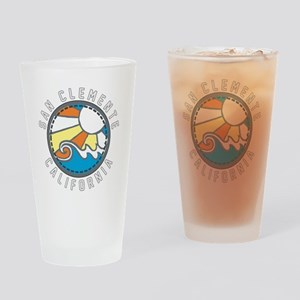 San Clemente Wave Badge Drinking Glass