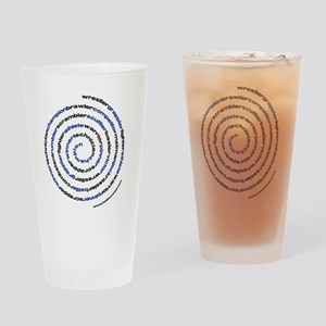 SpiralWrestlerWords Drinking Glass