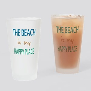 The Beach Is My Happy Place Drinking Glass