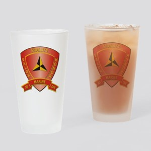 USMC - HQ Bn - 3rd Marine Division Drinking Glass