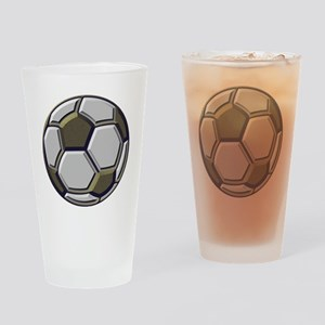 soccer art bevel 1 Drinking Glass