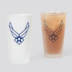 USAF-Symbol-White-On-Blue Drinking Glass