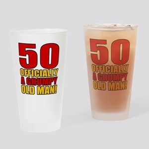GrumpyOldMan50 Drinking Glass