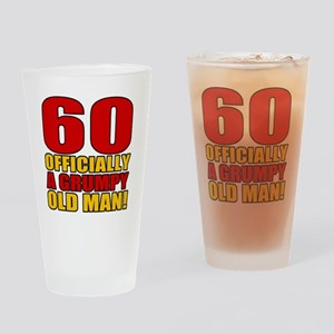 GrumpyOldMan60 Drinking Glass