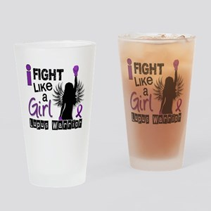 Fight Like A Girl Lupus 26.2 Drinking Glass