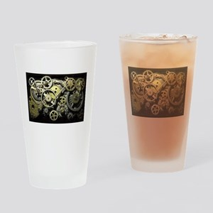 SteamPunk Gears Drinking Glass