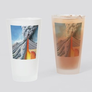 Stratovolcano, internal structure Drinking Glass