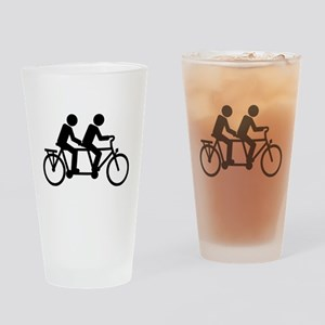 Tandem Bicycle bike Drinking Glass
