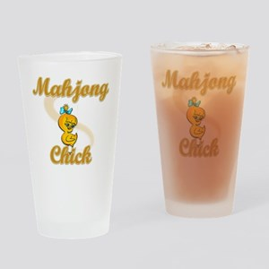 Mahjong Chick #2 Drinking Glass