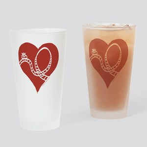 Love - Roller Coasters Drinking Glass