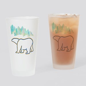 POLAR BEAR AND NORTHERN LIGHTS Drinking Glass