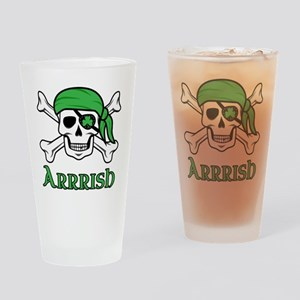 Irish Pirate Drinking Glass