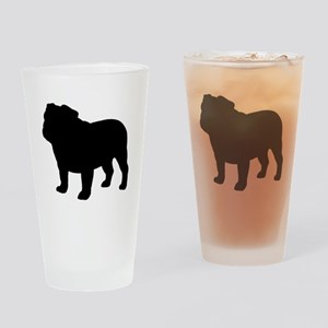 Bulldog Drinking Glass