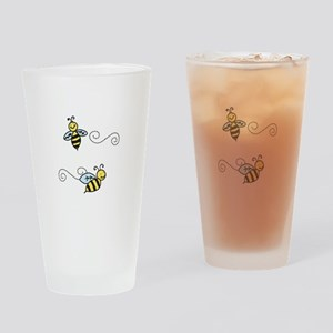 Bees Drinking Glass