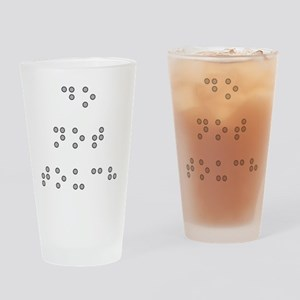 Do Not Touch in Braille (Grey) Drinking Glass