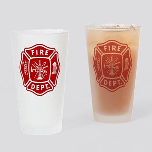 Fire Department Crest Drinking Glass