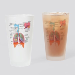 Respiratory system complete Drinking Glass