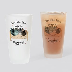 Chinpawprints Drinking Glass