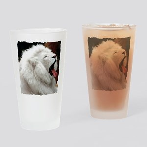 White Lion shirt Drinking Glass