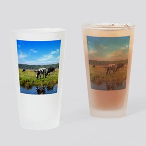 Beautiful Cow Landscape Drinking Glass