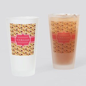Bee and Ladybug Pattern Personalize Drinking Glass