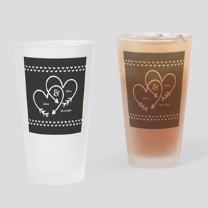 Mr. and Mrs. Wedding Customizable G Drinking Glass
