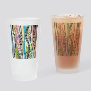 Colorful Flourish Drinking Glass