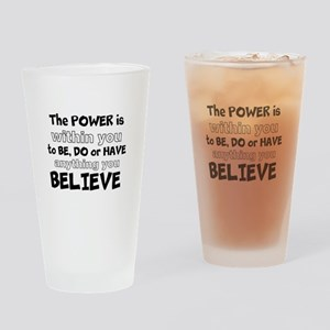 Powerful Inspirational Quote Drinking Glass