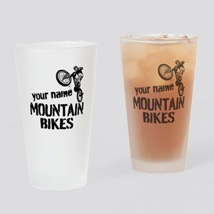 Custom Mountain Bikes Drinking Glass
