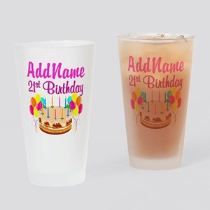 DAZZLING 21ST Drinking Glass