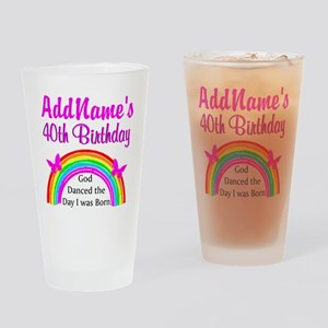 DELIGHTFUL 40TH Drinking Glass