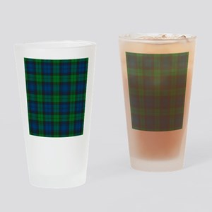 Black Watch Tartan Plaid Drinking Glass