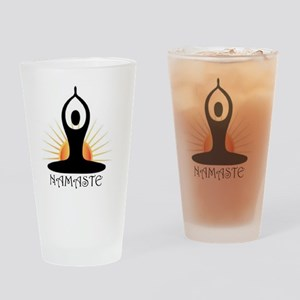 Morning Yoga, Rising Sun, Namaste Drinking Glass
