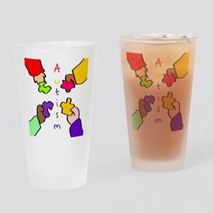 Autism Puzzle Pieces Drinking Glass
