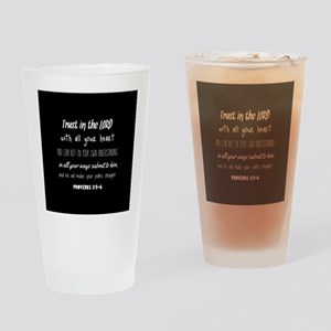 Bible Verse Gifts Proverbs 3:5-6 Drinking Glass